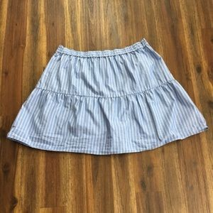 Madewell Skirts - Madewell Bistro striped blue skirt